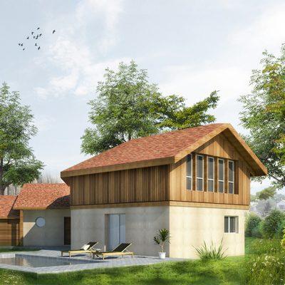 Réhabilitation et extension d'une maison individuelle à Hossegor