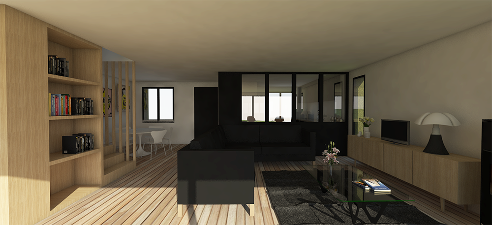 maison aubepine architecte capbreton. Black Bedroom Furniture Sets. Home Design Ideas
