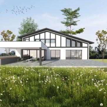 Construction d'une maison style basco dans les landes