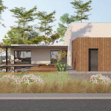 Construction d'une maison contemporaine à Capbreton.