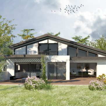 Construction d'une maison basco-landaise à Capbreton. Architecture traditionnelle et contemporaine.